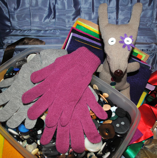 Upcycled Glove to Bunny