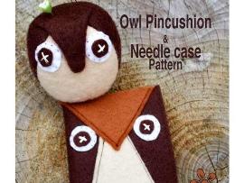Felt Owl Pincushion & Needle Case Pattern