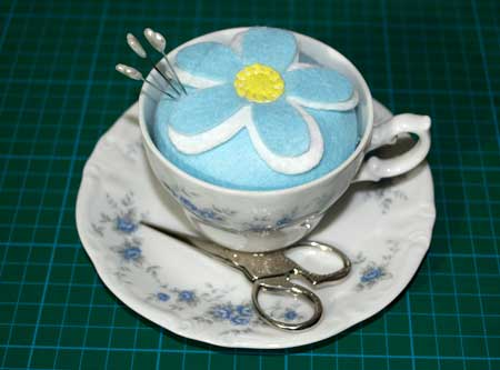 Vintage Teacup Pincushion Tutorial