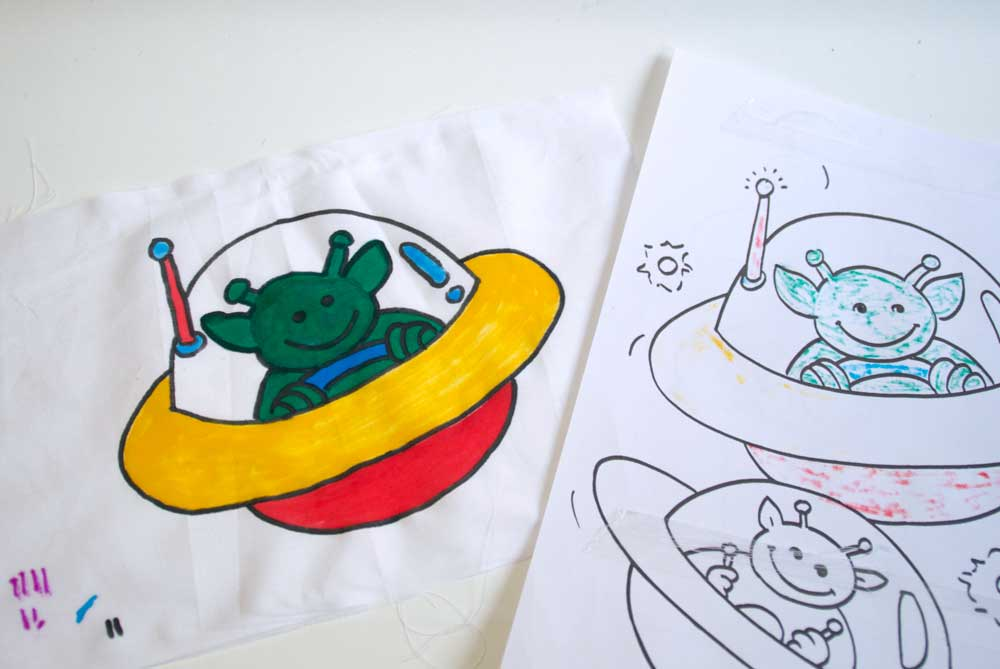Colouring book softie how to make