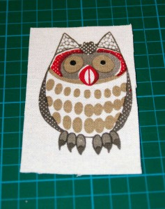 cut out the owl shape
