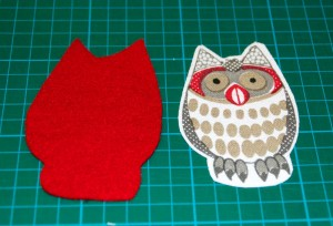 owl and felt shapes cut out