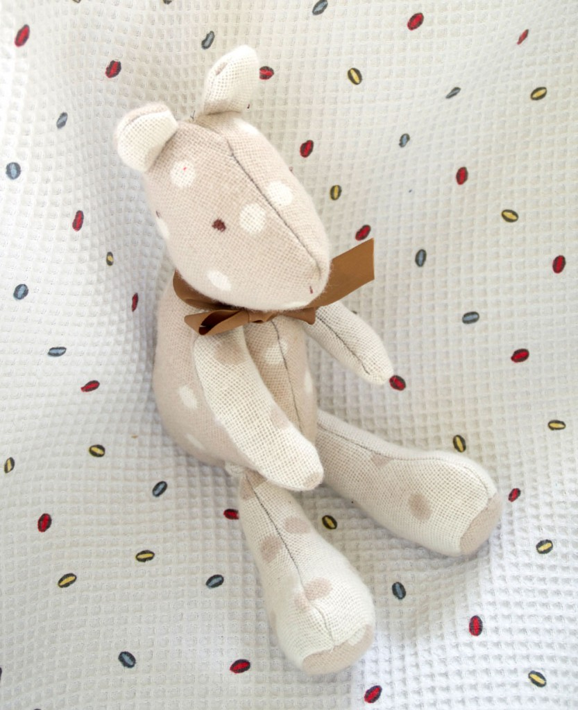 made with the Arthur Bear Pattern from Miss Daisy Dolls