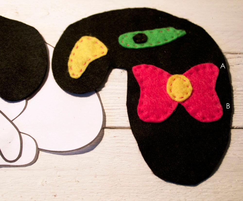 Mr Pink Miro Inspired Felt Sewing Pattern & Tutorial