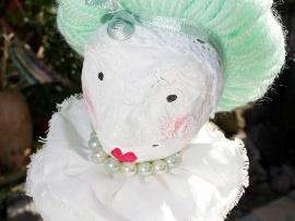 Doll - Papier Mâché Mrs Malaprop