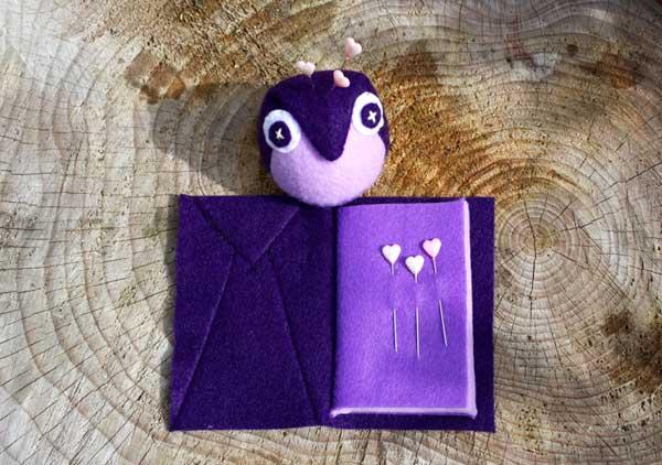 owl pincushion and needlecase pattern