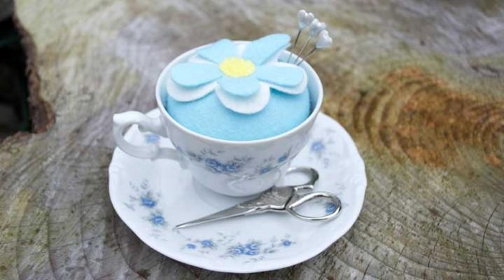 Vintage Teacup Pincushion Tutorial