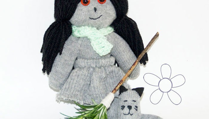 Up-cycle gloves into a cute Witch & Cat