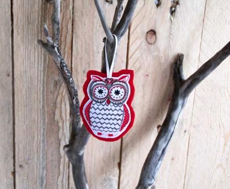 Christmas Owl Decoration No Sew Tutorial