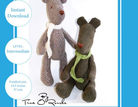 Arthur the Teddy Bear Sewing Pattern Instant Download PDF