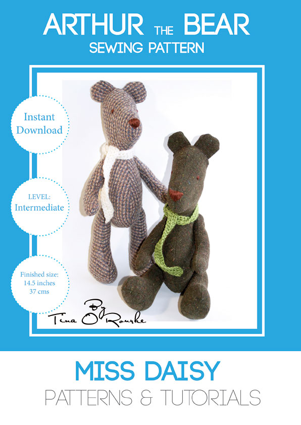 Arthur the Teddy Bear Sewing Pattern