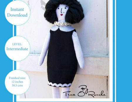 Miss Belle Doll Sewing Pattern Instant Download PDF