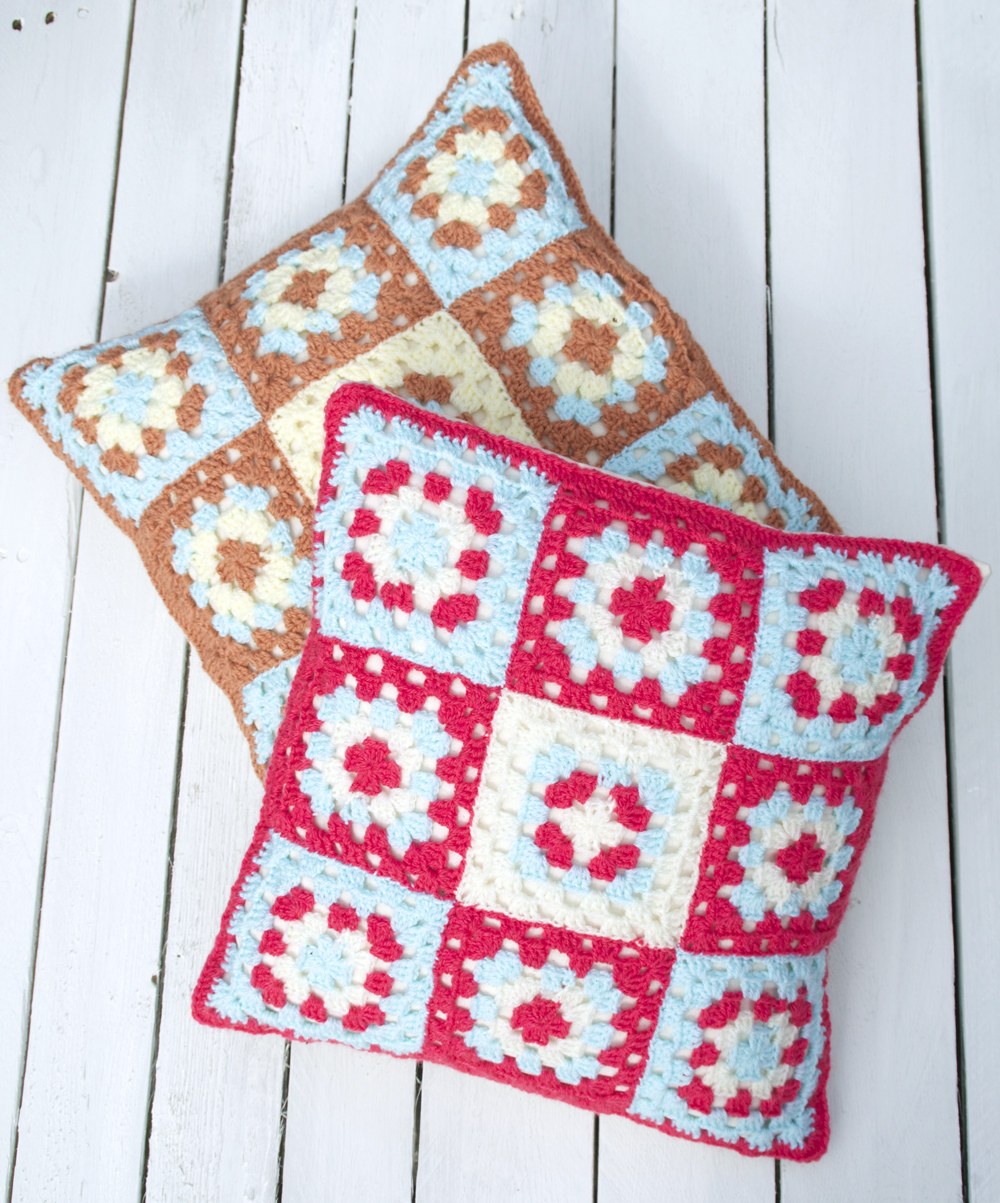 Granny Square Cushion Cover Crochet Pattern