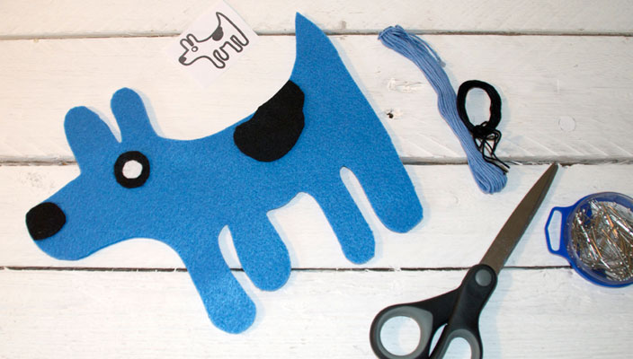 The Picasso Dog – Hand sewing project