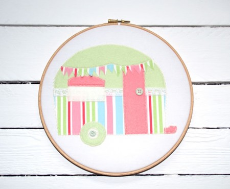 Caravan Appliqué Free Pattern and Tutorial