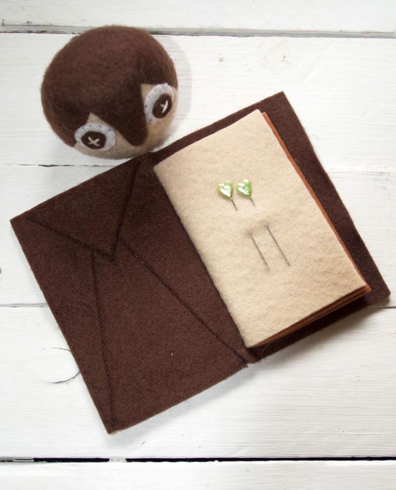 owl pincushion and needlecase sewing pattern