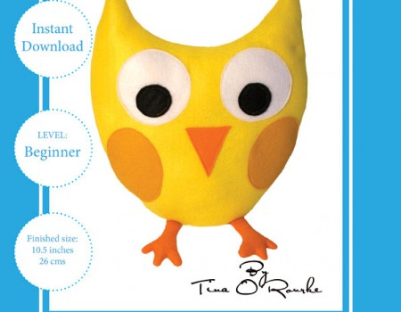 Polly the Owl Sewing Pattern Instant Download PDF
