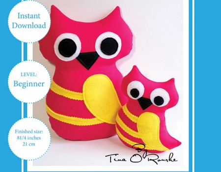 Jessica Owl Sewing Pattern Instant Download PDF
