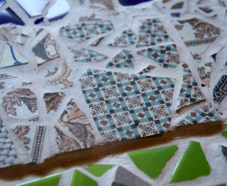 Up-cycled Tiles – House Mosaic
