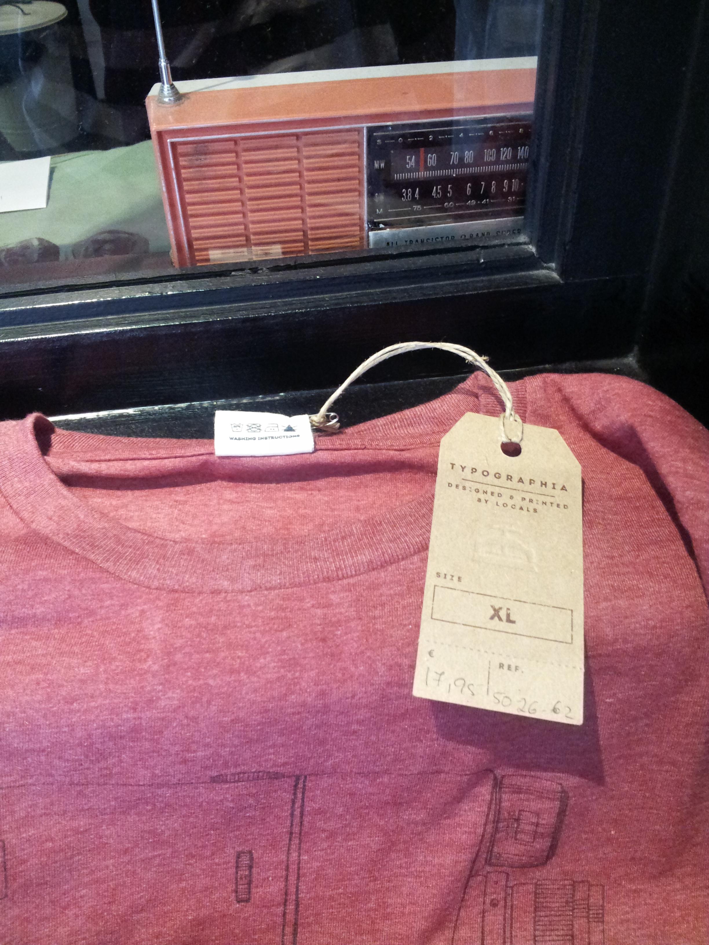 Typographic tee shirt design