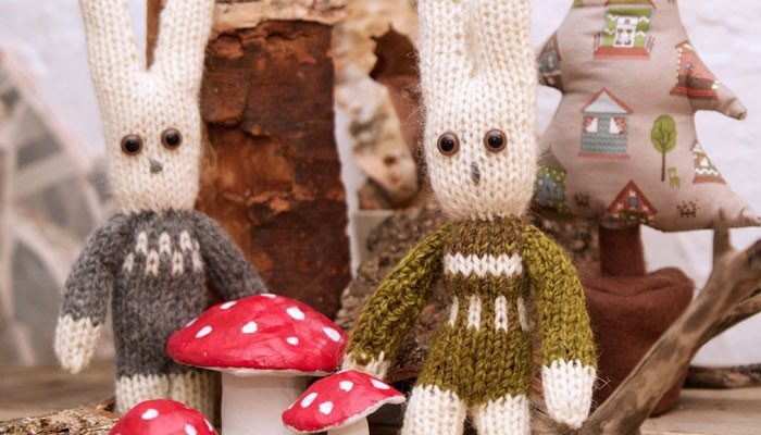 knitted bunnies