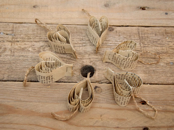 Handmade Paper Hearts