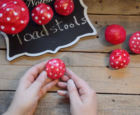 Air Dried Clay Toadstools Tutorial
