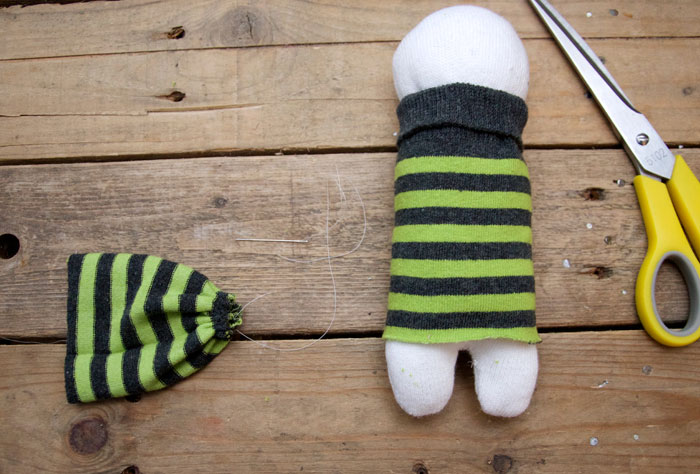Cute Doll Made from Socks