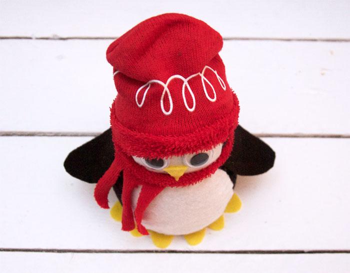 Day one diy no sew sock penguin youtube.