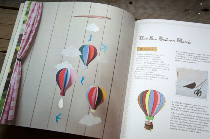 The Belle & Boo Book of Crafts hot air balloon pages