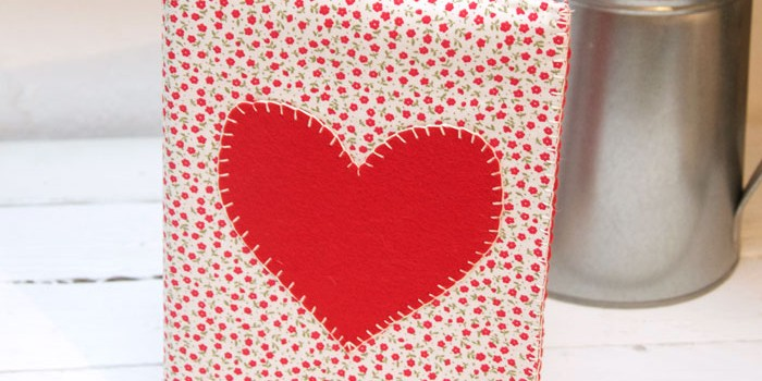 Heart Notebook cover pattern