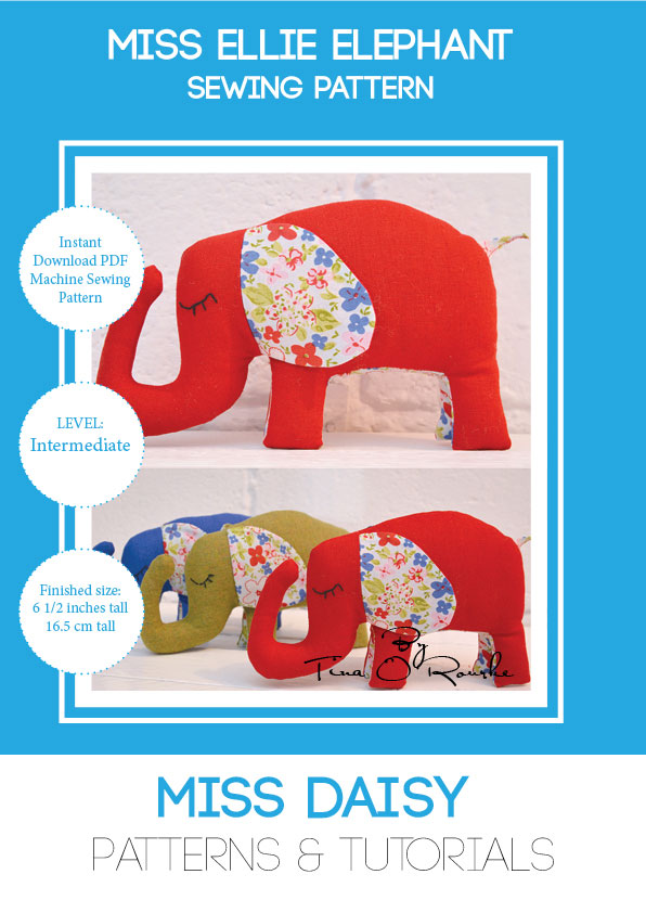 Miss Ellie Elephant Sewing Pattern Instant Download PDF - Miss Daisy ...