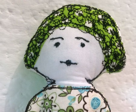 embroidered dolly