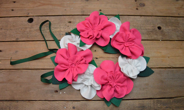Felt Flower Garland Pattern & Tutorial