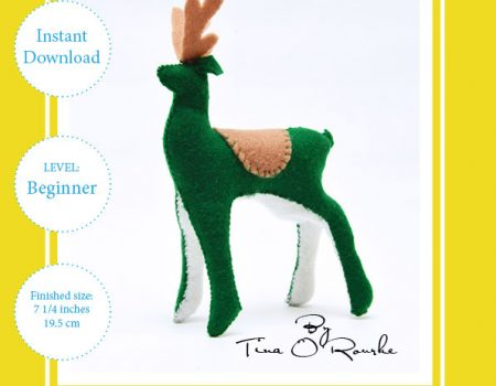 Fairy Deer Hand Sewing Pattern