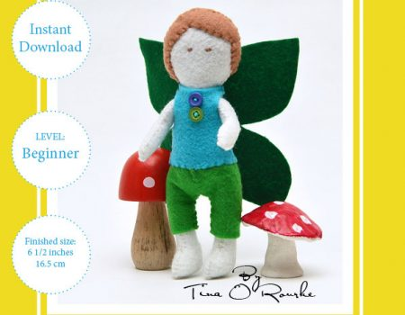 Fairy Doll Boy Hand Sewing Pattern