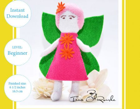 Fairy Doll Girl Hand Sewing Pattern