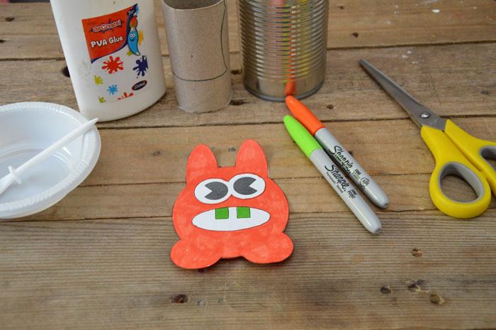 Make a Paper Moley Monster