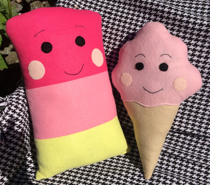 Ice Cream & Ice Pop Softies Sewing Patterns
