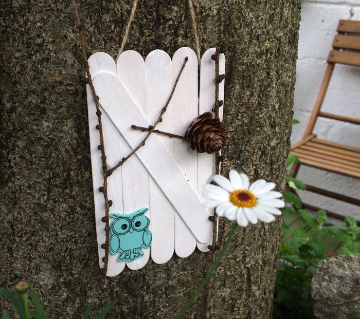 Make your own fairy doors miss daisy patterns for White fairy door