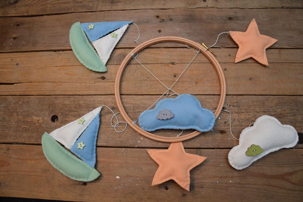 Daydreams nursery mobile sewing pattern