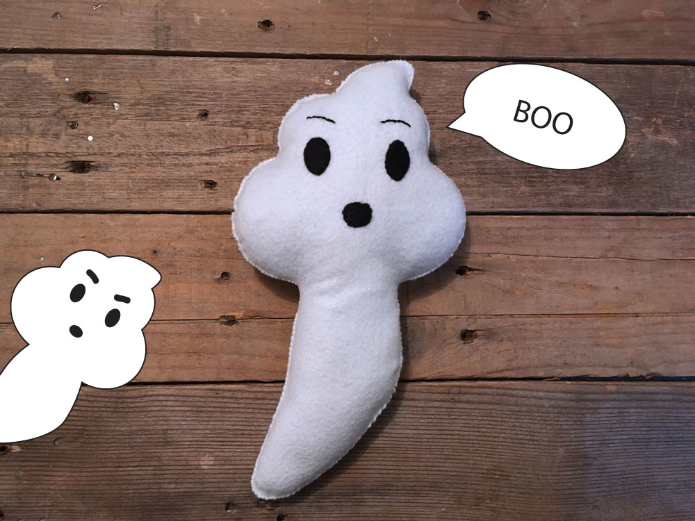 Boo Ghost Softie Sewing Pattern