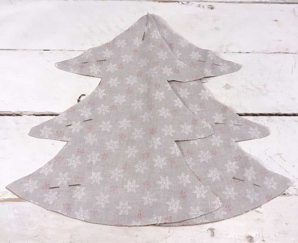 Village Christmas Tree Free Pattern & Tutorial