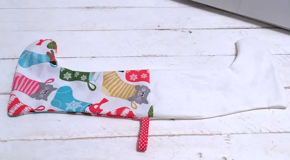 Small Christmas Socking Sewing Pattern