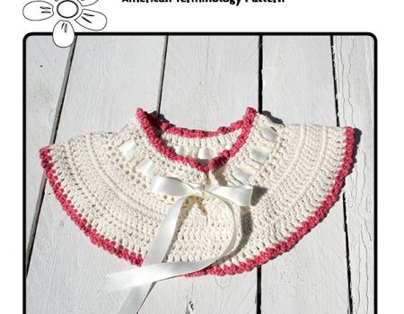 Blossom Collar Crochet Pattern English Terminology Miss Daisy Patterns