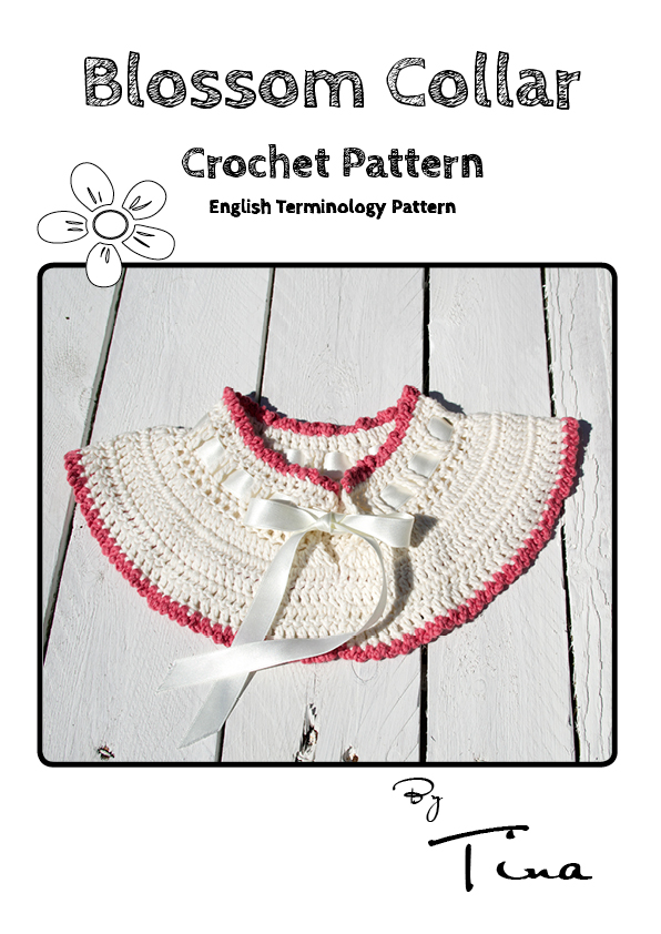 Blossom Collar Crochet Pattern English Terminology - Miss Daisy Patterns