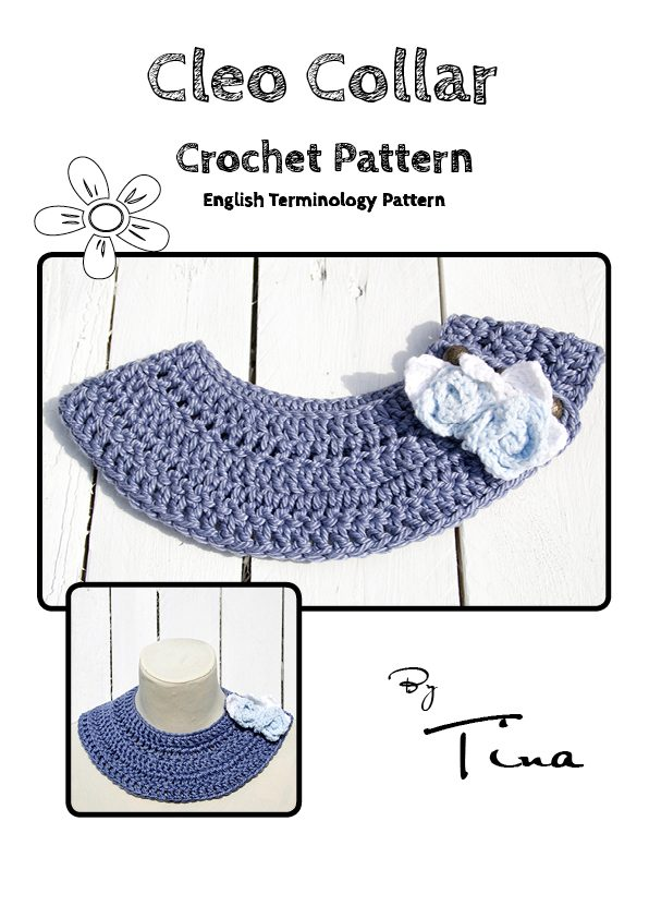The Cleo Collar Crochet Pattern English Terminology is a cute and easy to crochet lightweight collar.