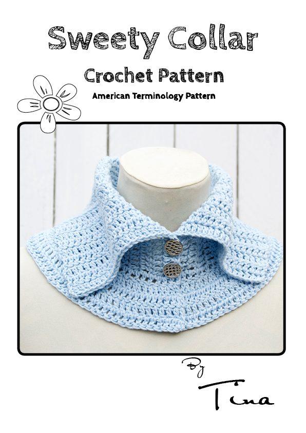 Sweety Collar Crochet Pattern (American Terminology)