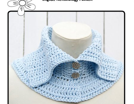 Sweety Collar Crochet Pattern (English Terminology)