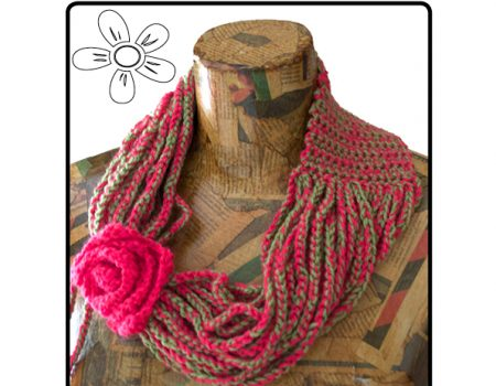 Cowl Chain Scarf Crochet Pattern (American terminology)